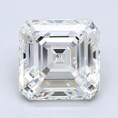 2.03-Carat Asscher Diamond Very Good H VVS2