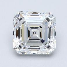 1.54 Carat Asscher Diamond Muy buena E IF