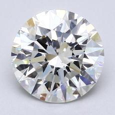 2.01-Carat Round Diamond Ideal H VS2