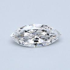 0,38-Carat Marquise Diamond Very Good D VVS1