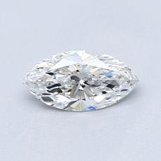 Pierre cible: Diamant taille princesse 0,51 carat