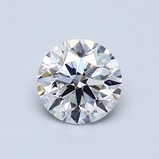 0.80 Carat 圆形 Diamond 理想 D VS2