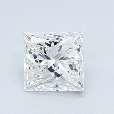 Pierre cible: Diamant taille princesse 1,01 carat