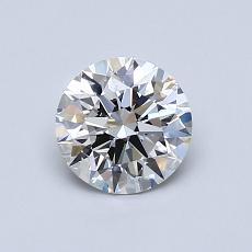 0,75-Carat Round Diamond Ideal G VVS2