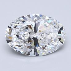 2.01-Carat Oval Diamond Very Good D VS1