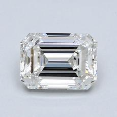 1.00-Carat Emerald Diamond Very Good G VVS1