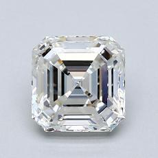 1,50-Carat Asscher Diamond Very Good H VVS1