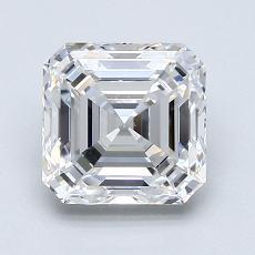 1.50-Carat Asscher Diamond Very Good F VVS2