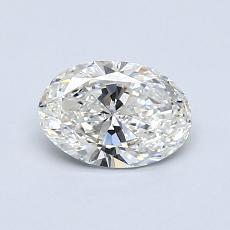 0,70 Carat Ovale Diamond Très bonne G VVS2