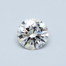 0.51-Carat Round Diamond Ideal I VVS1