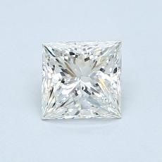 0.73-Carat Princess Diamond Very Good G VVS1