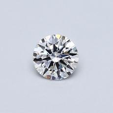 0.30 Carat 圓形 Diamond 理想 E VS2