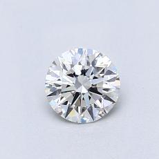 0,51-Carat Round Diamond Ideal D IF