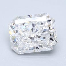 1.50 Carat ラディアント Diamond ベリーグッド D VVS1