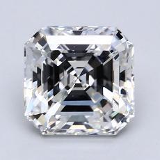 Pierre recommandée n°4: Diamant taille Asscher 2,26 carat
