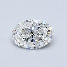 0,70 Carat Ovale Diamond Très bonne F VS1