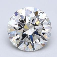 3.01-Carat Round Diamond Ideal H VVS2