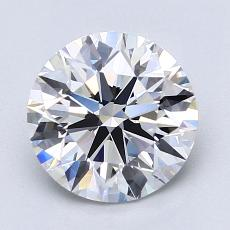 2.03-Carat Round Diamond Ideal D VVS2