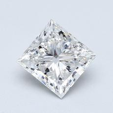 1,01-Carat Princess Diamond Very Good F IF