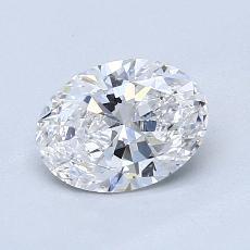 0,90 Carat Ovale Diamond Très bonne D VS2
