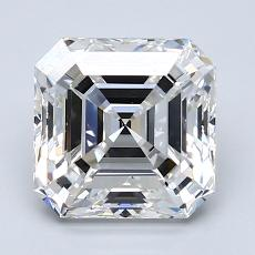 Piedra recomendada 2: Diamante de talla Asscher de 2.52 quilates