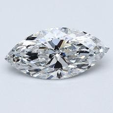 1,01-Carat Marquise Diamond Very Good D IF