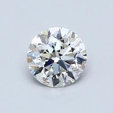 0.70 Carat 圓形 Diamond 理想 H VS1