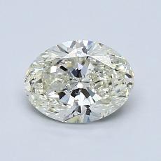 1.00 Carat 橢圓形 Diamond 非常好 K SI1