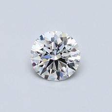 0.40 Carat 圓形 Diamond 理想 G VVS1