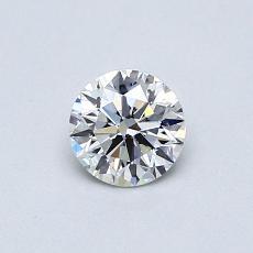 0.42 Carat 圆形 Diamond 理想 F SI2
