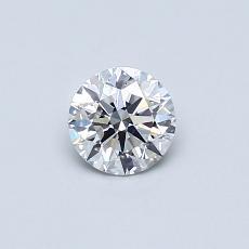 0,40-Carat Round Diamond Ideal E SI1
