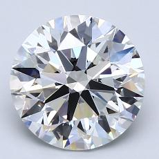 Recommended Stone #1: 3.15-Carat Round Cut Diamond