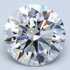 4.02-Carat Round Diamond Ideal E VVS2