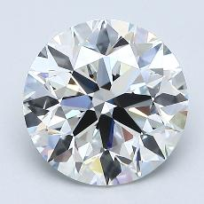 2,01 Carat Rond Diamond Idéale G VS1