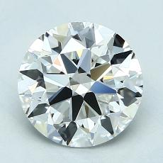 2.00-Carat Round Diamond Ideal F VVS1