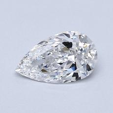 Piedra recomendada 4: Diamante en forma de pera de0.95 quilates