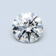0.77-Carat Round Diamond Ideal J VVS1