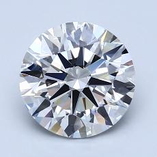 2,01 Carat Redondo Diamond Ideal H VVS2