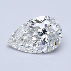 1.01 Carat 梨形 Diamond 非常好 D VS1