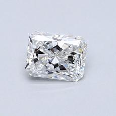 0.48-Carat Radiant Diamond Very Good D VVS1
