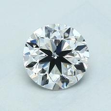1.00 Carat 圆形 Diamond 非常好 D VS1