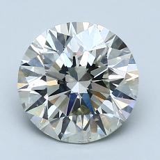 2.01 Carat 圆形 Diamond 理想 J SI2
