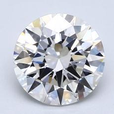 2.08-Carat Round Diamond Ideal D FL