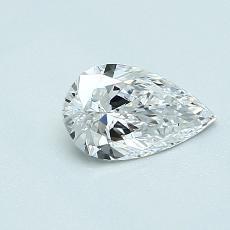 Piedra recomendada 1: Diamante en forma de pera de0.50 quilates