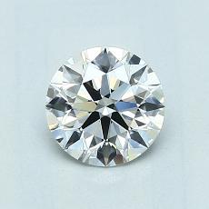 0.81-Carat Round Diamond Ideal E IF