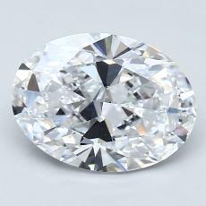 2.03 Carat 椭圆形 Diamond 非常好 D IF
