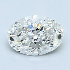 1.20 Carat 椭圆形 Diamond 非常好 I VS1