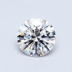 0,70-Carat Round Diamond Ideal D VVS2