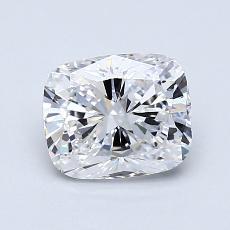 1.01-Carat Cushion Diamond Very Good D VVS1