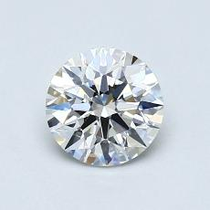 0,70-Carat Round Diamond Ideal G VVS2